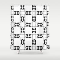 terrier Shower Curtains featuring Terrier by Nae Nae Designs