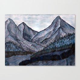Cold Rock Canvas Print