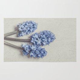 Light Blue Hyacinths Rug