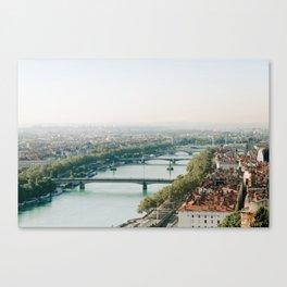 Sunrise over Lyon Canvas Print