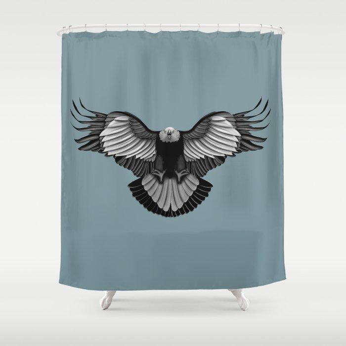 Eagle Shower Curtain By Mina Burtonesque