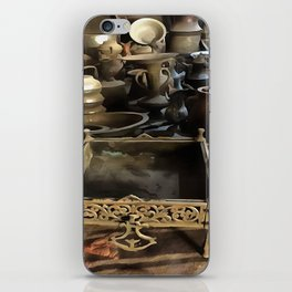 Handcrafted Tin And Copper Kitchenwares iPhone Skin