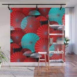 just a crazy umbrella pattern -2- Wall Mural