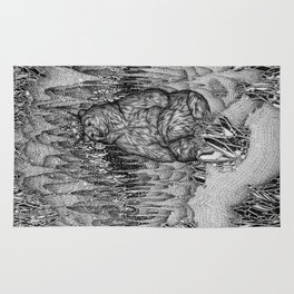 Cave of the Bear King Rug