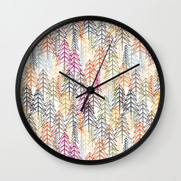Woodland Rainbow Wall Clock