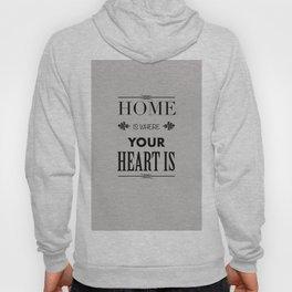 Home Heart grey - Typography Hoody