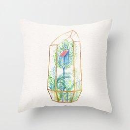 Terrarium Garden III Throw Pillow
