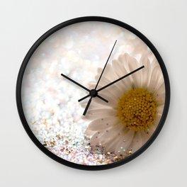 GLITTER & DAISY GOLD Wall Clock