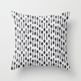 Kitchen cutlery spoons Throw Pillow