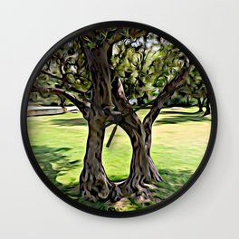Dance of the Olive Tree Wall Clock