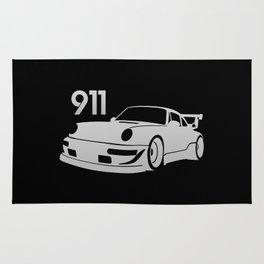 Porsche 911 - silver - Rug