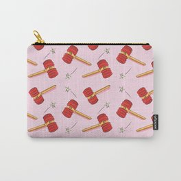 Pink Toy Hammer Carry-All Pouch