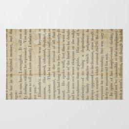 Pride and Prejudice  Vintage Mr. Darcy Proposal by Jane Austen   Rug