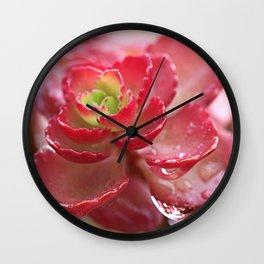 Succulent Flower Wall Clock