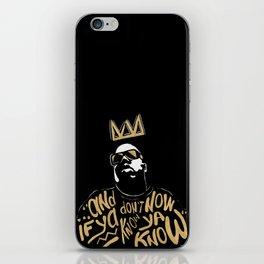 Brooklyn's King iPhone Skin