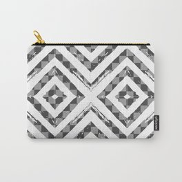 Grey Checkered Paattern Carry-All Pouch