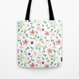 Tropical pastel themed pattern Tote Bag