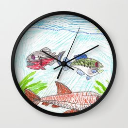 Catfish & Friends Wall Clock