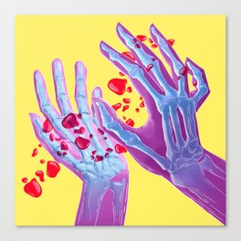 Skeleton hands Canvas Print
