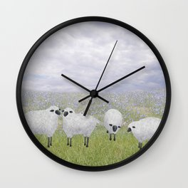 sheep and chicory Wall Clock