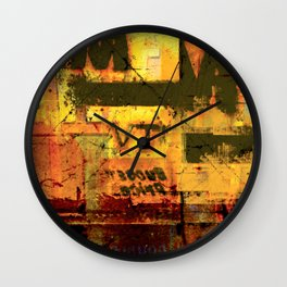 MOTEL AMERICANA - An illustrated road movie Wall Clock