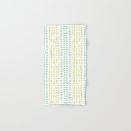 Striped dots and dashes Hand & Bath Towel