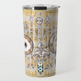 Mystification Fascination in Silver and Gold Travel Mug