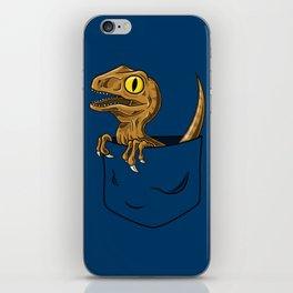 Pocket Raptor (Jurassic Park Velociraptor) iPhone Skin