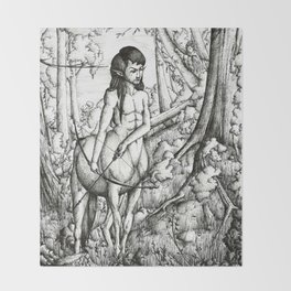 Centaur hunter Throw Blanket