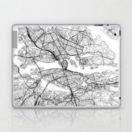 Stockholm White Map Laptop & iPad Skin