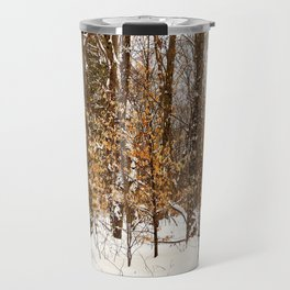 Maple Beech Forest in the Winter Travel Mug