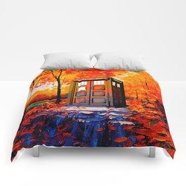tardis in the woods Comforters