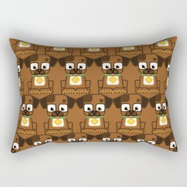 Super cute animals - Cute Brown Puppy Dog Rectangular Pillow