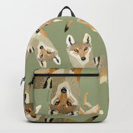 Totem Indian Wolf Backpack