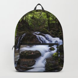 Magical waterfall in gorge Hell Backpack