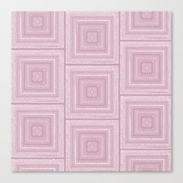 Dusty Rose Drawing Therapy Canvas Print