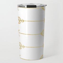 Faux gold foil arrows Travel Mug