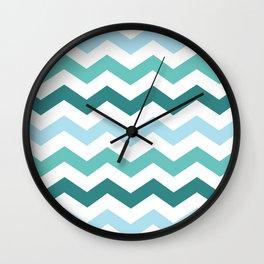 Chevron forest Wall Clock