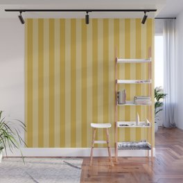 Large Two Tone Spicy Mustard Yellow Cabana Tent Stripe Wall Mural