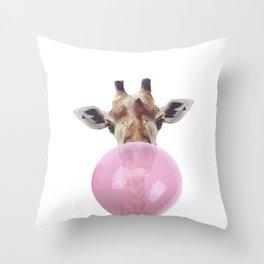 Bubble Gum - Giraffe Throw Pillow