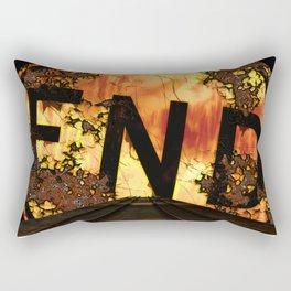 Halloween, Dead End Sign, Back Drop Rectangular Pillow