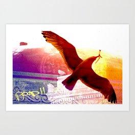 City Birds 01 Art Print
