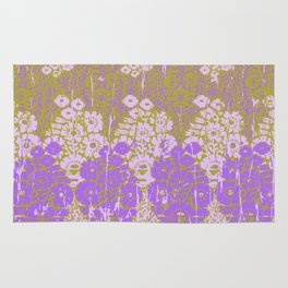 floral paisley on olive Rug