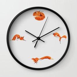 Fox poses Wall Clock