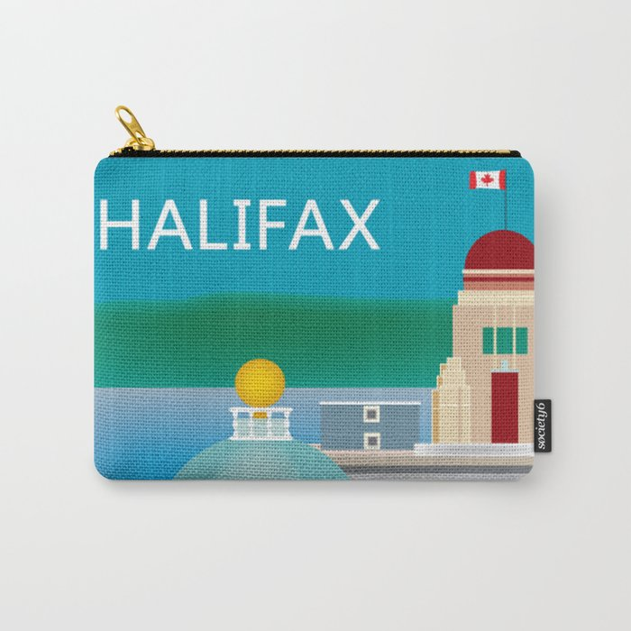 Halifax, Nova Scotia, Canada - Skyline Illustration by Loose Petals Carry-All Pouch