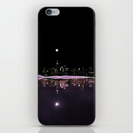 Moonlight In The City Skyline Design iPhone Skin