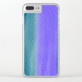 Delusional Lines Clear iPhone Case