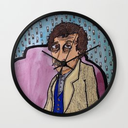 Vonnegut and the Palm Mall Blues Wall Clock