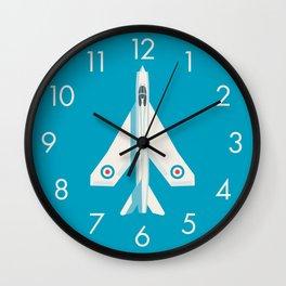 English Electric Lightning RAF Jet Fighter - Cyan Wall Clock