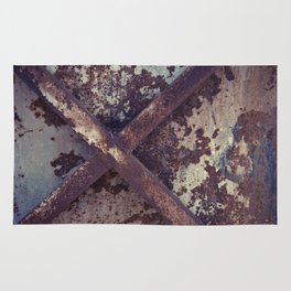 Rusty Metal Cross Rug